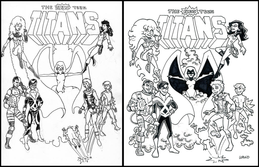 New Teen Titans Redux by BillWalko