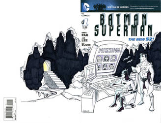 Batman Superman  Cover Commission by BillWalko