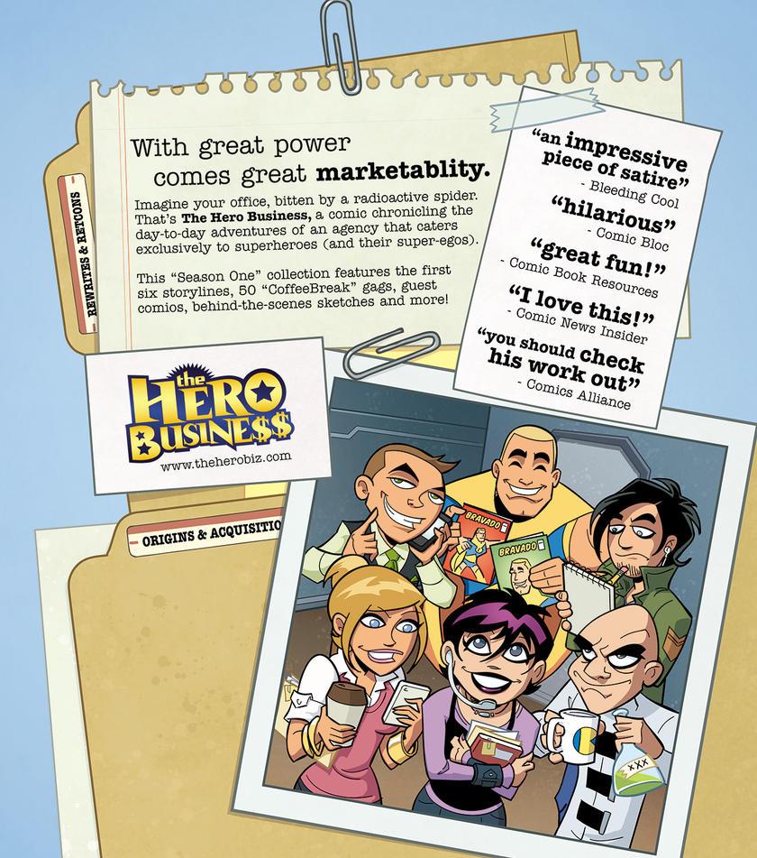 Hero Business Trade Paperback Back Cover by BillWalko