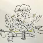 Flash Doing Dishes - Boston Comic Con 2015