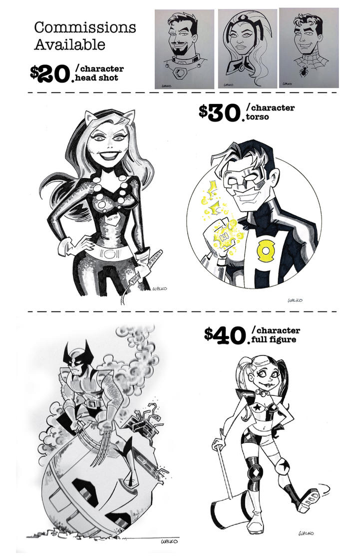 Commission Guide New York Comic Con by BillWalko