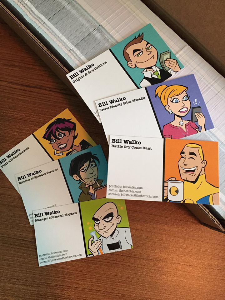 Hero Business Cards by BillWalko