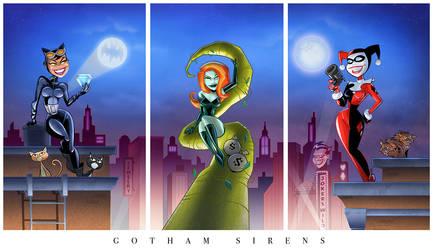 Gotham Girls Triptych (complete)