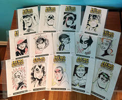 Hero Head Sketch Covers - Marvel