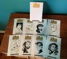Hero Head Sketch Covers - DC