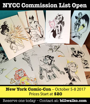 Pre-Show Commission List For NYCC is OPEN!