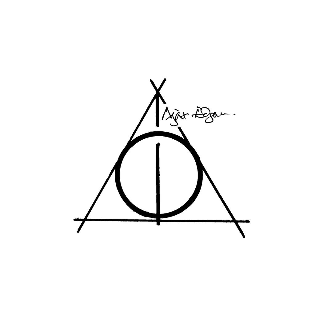 the deathly hallows tattoo design by ajaxedgar on deviantart. Black Bedroom Furniture Sets. Home Design Ideas