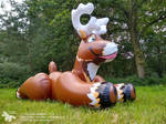 Flausi - the inflatable reindeer by HorseplayInflatables