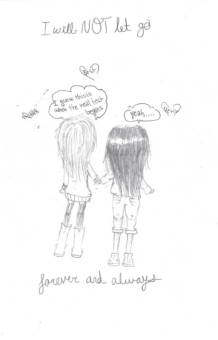 Best friends pencil drawing by ordinary chan