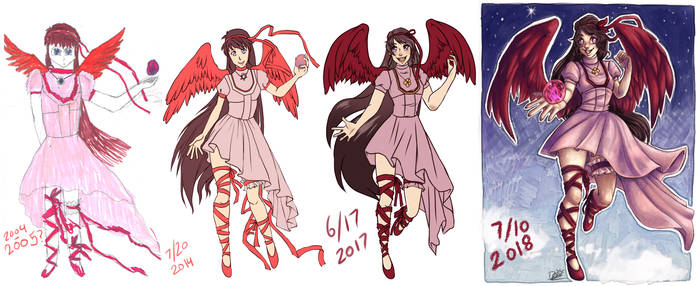 Meme :: B and A - Pink Angel Girl #4