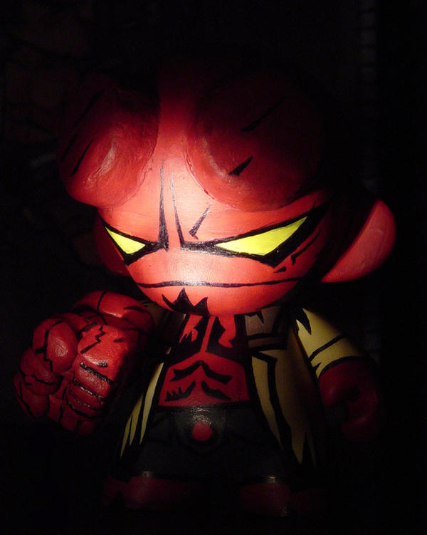 Munny - HELLBOY by LeftHandedMutant