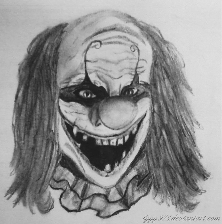 Evil clown drawing (dessin clown) by lyyy971 on DeviantArt