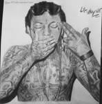 Lil Wayne drawing (dessin Lil Wayne) by lyyy971