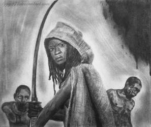 Michonne drawing - The walking dead by lyyy971