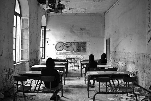 Where is the teacher ?