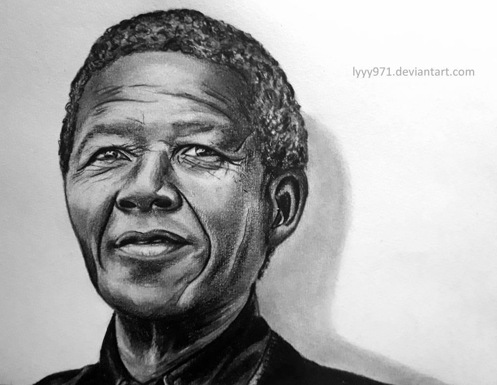 Nelson mandela drawing by lyyy971 on deviantart