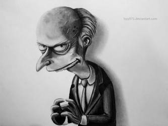 Mr Burns (The simpsons) - Drawing by lyyy971