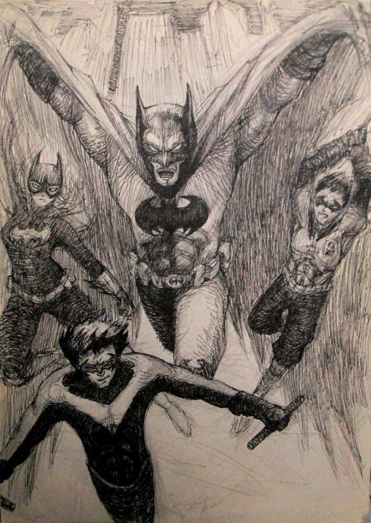 Batfamily attacks! by Yavuzartx