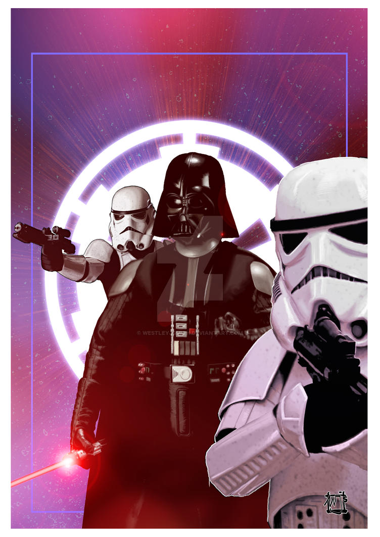 Vader and the Stormtroopers by westleyjsmith