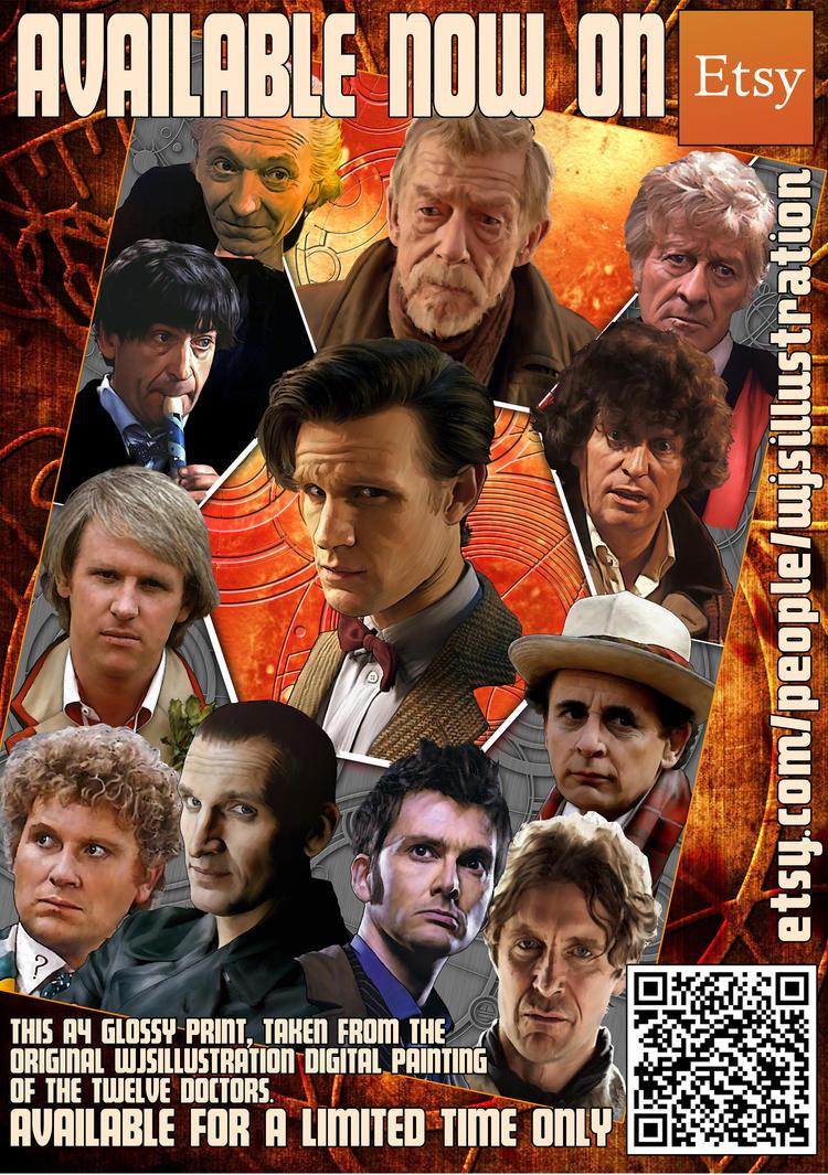 The Twelve Doctors Print by westleyjsmith