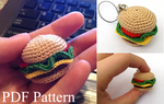 Mini Hamburger Amigurumi Pattern