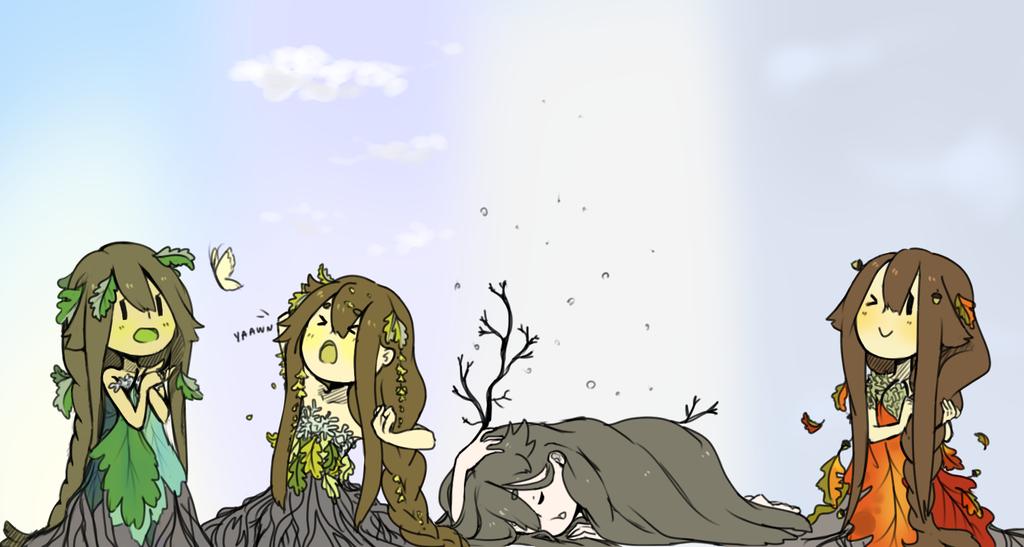 Tree Seasons by kimitama