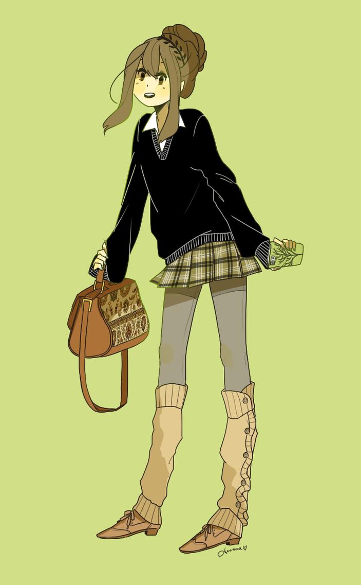kawaii schoolgirl tree-chan by kimitama