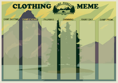 Camp Pioneer Clothing Meme
