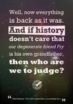 Who are we to judge ?