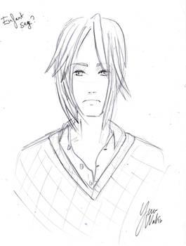 Speed drawing 01 : Quiet college boy