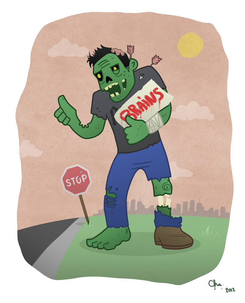 Hitchhiking zombie