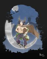 Fanart Hauru + Mononoke world - Halloween Contest by Red-Cha