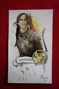 Katniss - watercolors