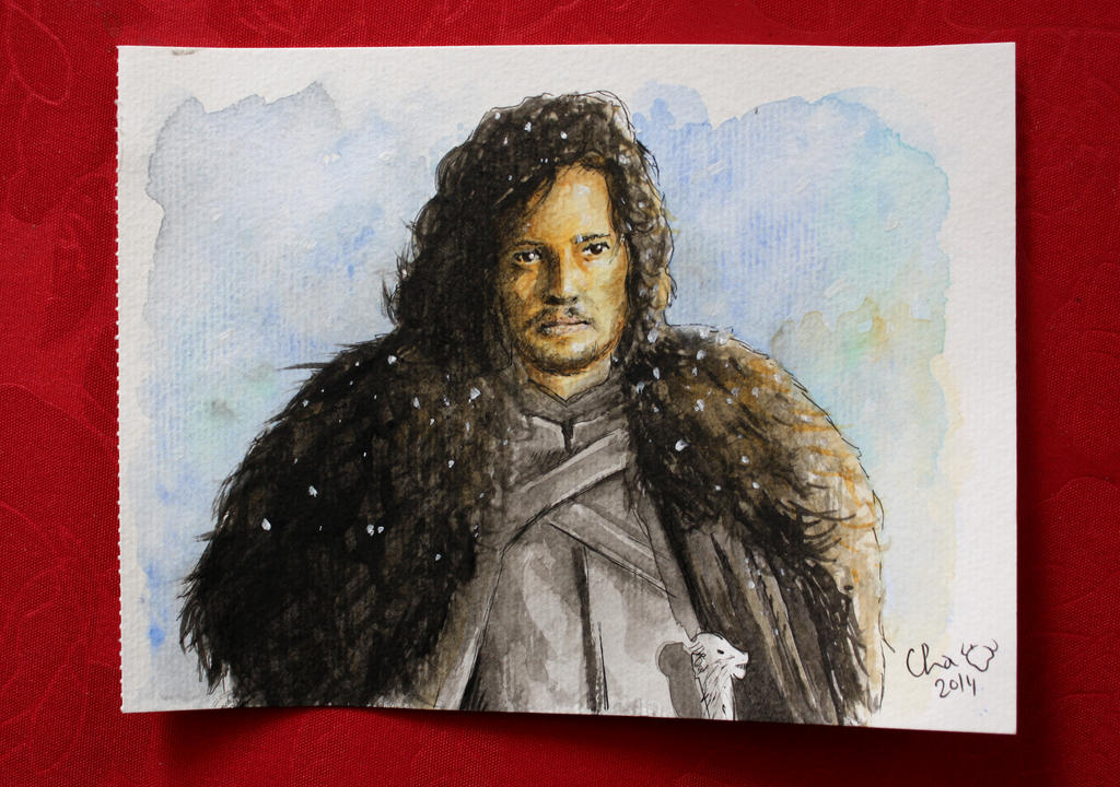 Jon Snow - watercolors by Red-Cha