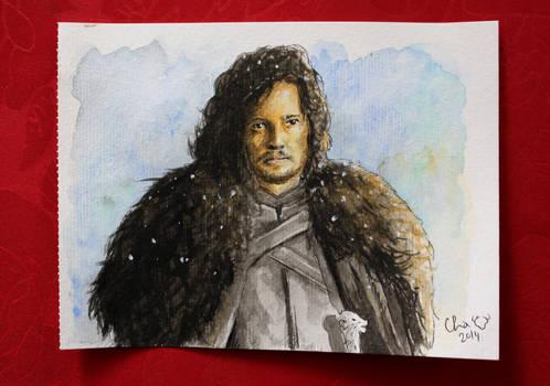 Jon Snow - watercolors