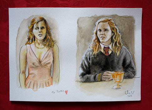 Hermione - Watercolors