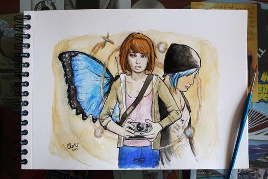 Life is strange - fanart - watercolors