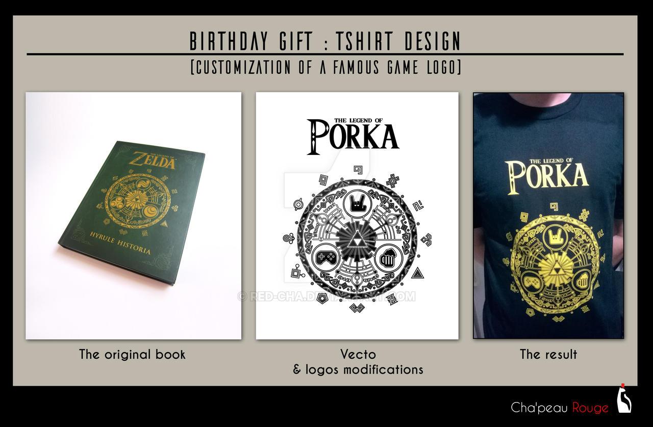 TSHIRT DESIGN : Costumization of Zelda logo by Red-Cha