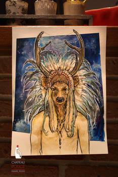 Deer-masked man