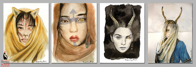 Shaman Series - Watercolors