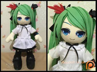 Hatsune Miku 60cm - World is Mine ver by renealexa-plushie