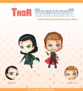 Thor Ragnarok - Double Sided Keychains by renealexa-plushie