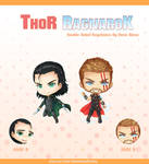 Thor Ragnarok - Double Sided Keychains by renealexa-plushie