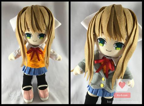 Monika - Doki Doki Literature Club Plushie by renealexa-plushie