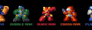 Mega Man 2 Robot Masters in Mega Man 8 Style