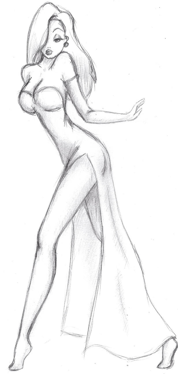 Jessica Rabbit Sketch by Nimhel on DeviantArt