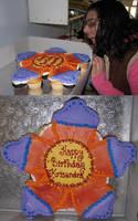 Flower Cupcake Cake by Nimhel
