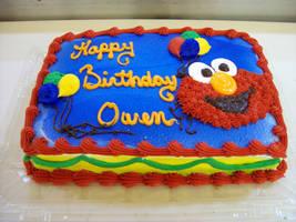 Elmo cake by Nimhel