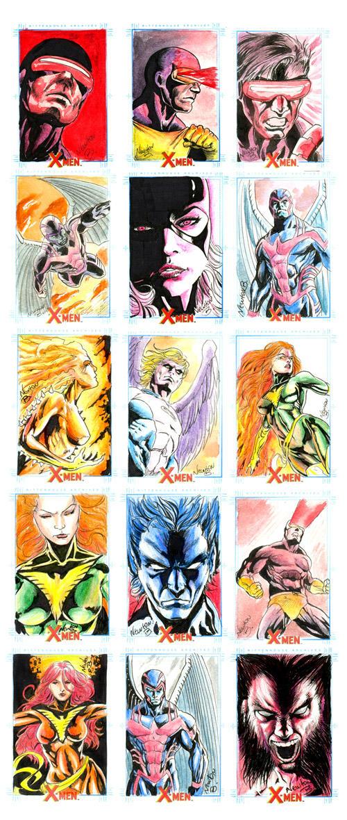 X-men Archives sketchcards