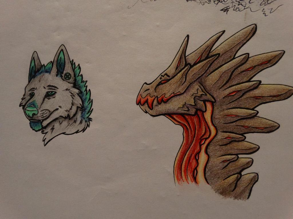 Wolf n Dragon Headshots by Rixxes